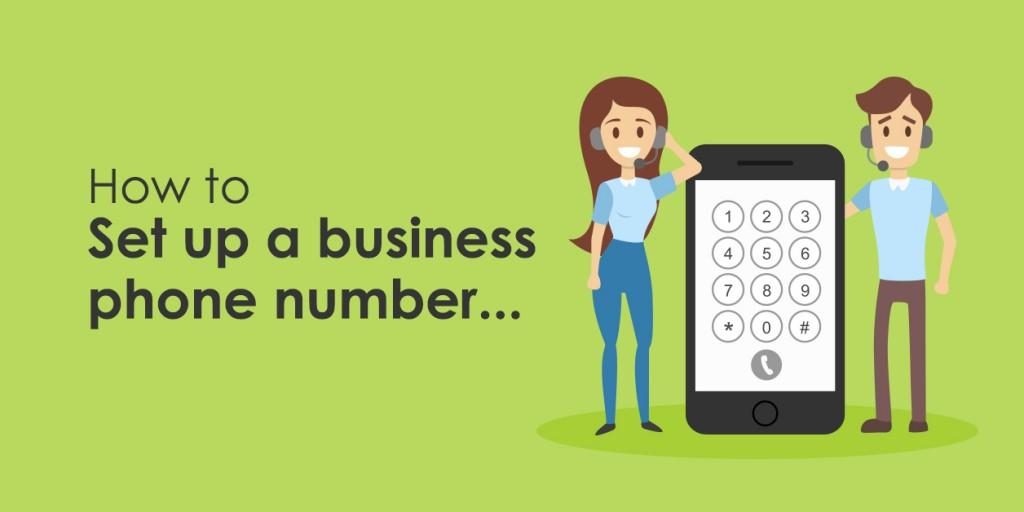 How do I set up a business phone number?