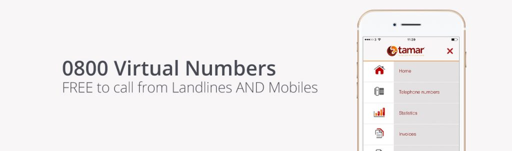 0800 Virtual Number ǀ Free to tall from landlines and mobiles ǀ Tamar Telecommunications